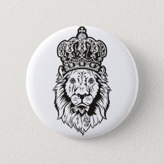 Chapa Redonda De 5 Cm La cabeza del león coronado