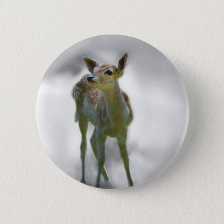Chapa Redonda De 5 Cm La curiosidad del ciervo del bebé