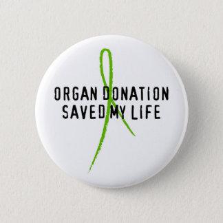 Chapa Redonda De 5 Cm La donación de órganos ahorró mi vida
