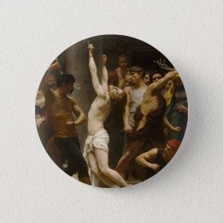 Chapa Redonda De 5 Cm La flagelación de nuestro señor Jesucristo 1880