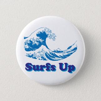 Chapa Redonda De 5 Cm La gran onda de Hokusai practica surf para arriba