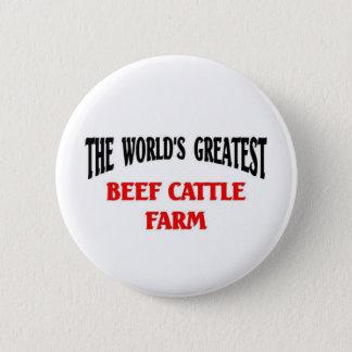 Chapa Redonda De 5 Cm La granja más grande de los ganados vacunos