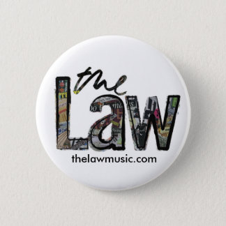 Chapa Redonda De 5 Cm La ley - logotipo - insignia
