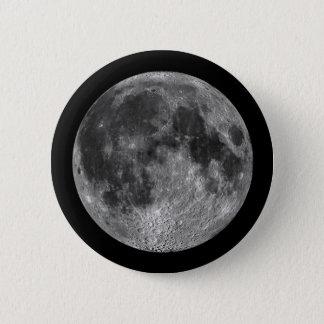 Chapa Redonda De 5 Cm La luna de la tierra en espacio exterior