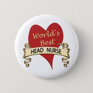 Chapa Redonda De 5 Cm La mejor enfermera principal del mundo