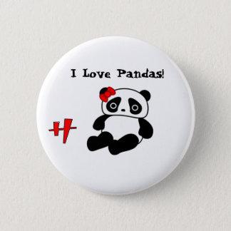 Chapa Redonda De 5 Cm ¡La panda, h, amo pandas! - Modificado para