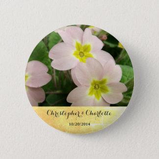 Chapa Redonda De 5 Cm La primavera rosa clara florece el boda de encargo