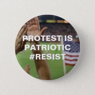 Chapa Redonda De 5 Cm La protesta es resistencia patriótica
