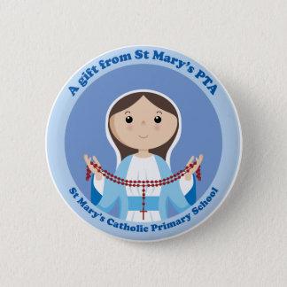 Chapa Redonda De 5 Cm La Pta primaria católica de StMary