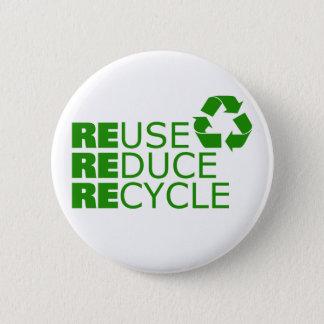 Chapa Redonda De 5 Cm La reutilización reduce recicla