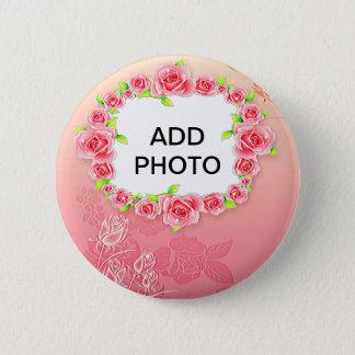 Chapa Redonda De 5 Cm La tarjeta del día de San Valentín rosada de los