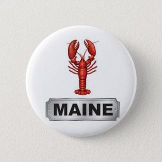 Chapa Redonda De 5 Cm Langosta de Maine