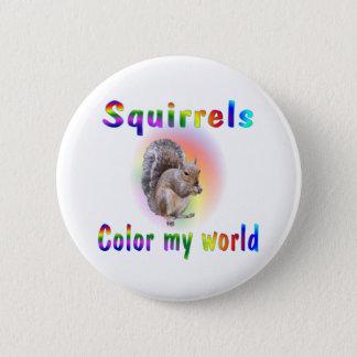 Chapa Redonda De 5 Cm Las ardillas colorean mi mundo