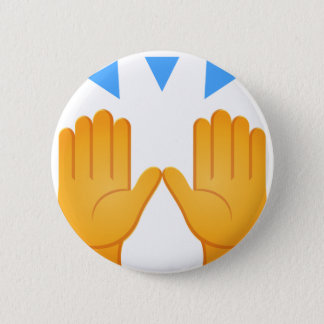 Chapa Redonda De 5 Cm Las manos aumentaron Emoji