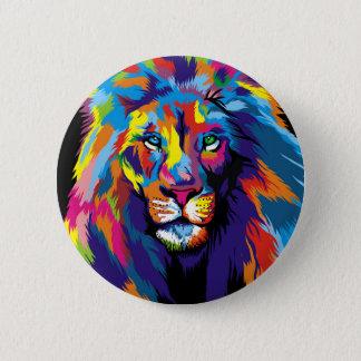 Chapa Redonda De 5 Cm León colorido