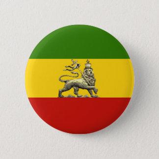 Chapa Redonda De 5 Cm León de los colores del reggae de Rastafarian del