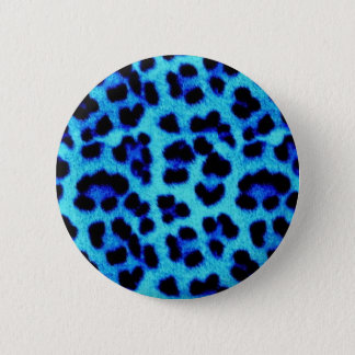 Chapa Redonda De 5 Cm Leopardo azul