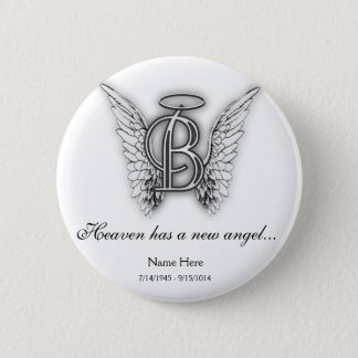 Chapa Redonda De 5 Cm Letra conmemorativa B del tributo del monograma