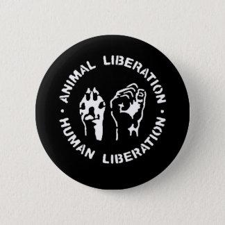 Chapa Redonda De 5 Cm Liberación animal del ser humano de la liberación