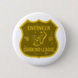 Chapa Redonda De 5 Cm Liga de consumición del ingeniero