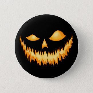 Chapa Redonda De 5 Cm Linterna de Jack O en la oscuridad con una mueca