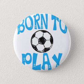 Chapa Redonda De 5 Cm llevado jugar a fútbol