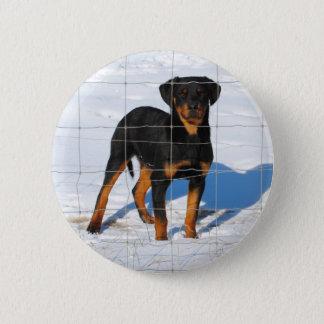 Chapa Redonda De 5 Cm Lobo Rottweiler