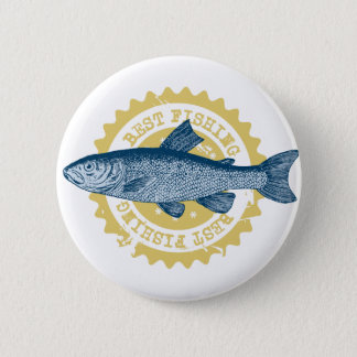 "Chapa Redonda De 5 Cm Logotipo de la pesca de la trucha de la ""mejor"