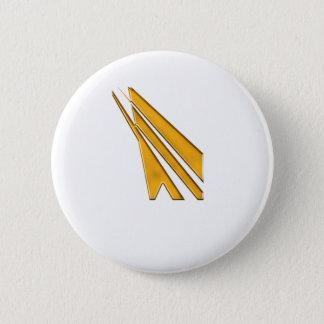 Chapa Redonda De 5 Cm logotipo del oro