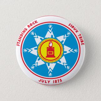 Chapa Redonda De 5 Cm Logotipo derecho de la tribu de la roca