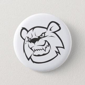 Chapa Redonda De 5 Cm Logotipo enojado de encargo del esquema del oso