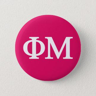 Chapa Redonda De 5 Cm Logotipo grande de MU Lil de la phi