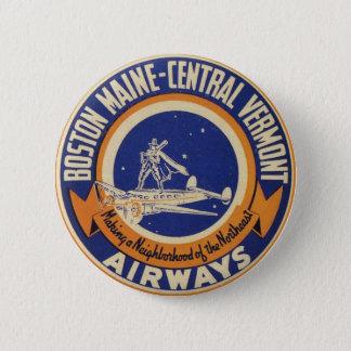 Chapa Redonda De 5 Cm Logotipo Maine-Central de las vías aéreas de
