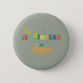 Chapa Redonda De 5 Cm Los ingenieros son en agosto Z479b nacidos