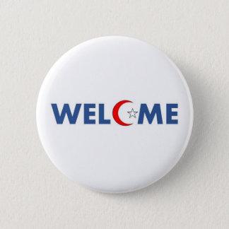 Chapa Redonda De 5 Cm Los musulmanes dan la bienvenida en los E.E.U.U.