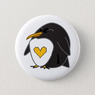 Chapa Redonda De 5 Cm los pingüinos y ellos del amor le amarán