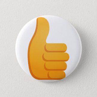 Chapa Redonda De 5 Cm Los pulgares suben Emoji