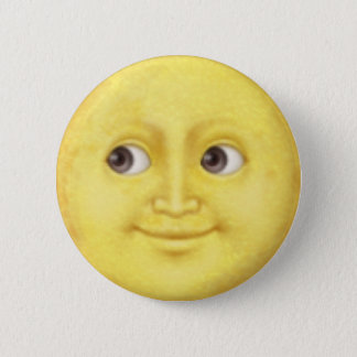 Chapa Redonda De 5 Cm Luna Emoji
