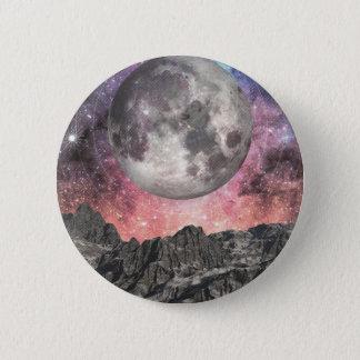 Chapa Redonda De 5 Cm Luna sobre el lago mountain