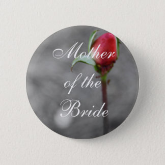 Chapa Redonda De 5 Cm Madre de la baratija del boda del capullo de rosa