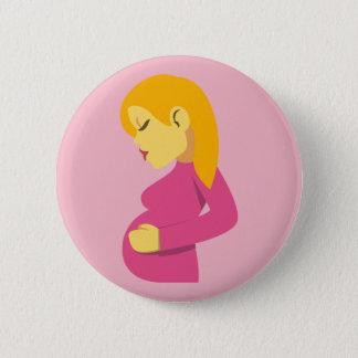 Chapa Redonda De 5 Cm Madre embarazada Emoji