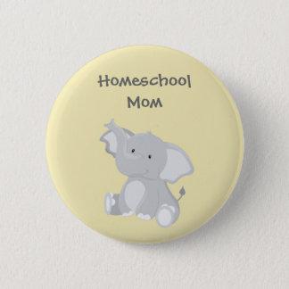 Chapa Redonda De 5 Cm Mamá de Homeschool del elefante