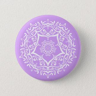 Chapa Redonda De 5 Cm Mandala de la lavanda