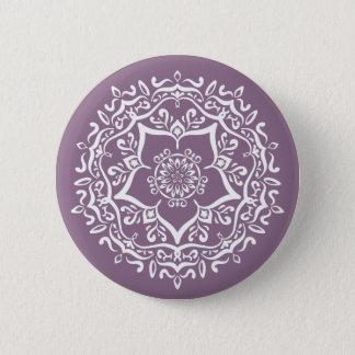 Chapa Redonda De 5 Cm Mandala de las glicinias
