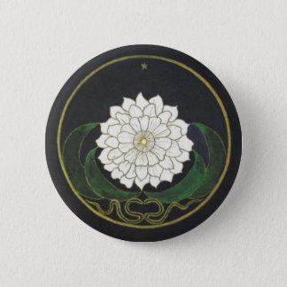 Chapa Redonda De 5 Cm Mandala de oro de la flor
