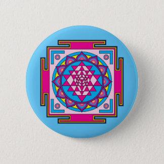 Chapa Redonda De 5 Cm Mandala de Sri Yantra