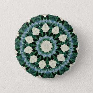 Chapa Redonda De 5 Cm Mandala del azul verde y cerúleo de Sacramento