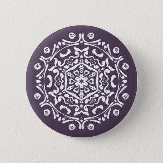 Chapa Redonda De 5 Cm Mandala del ciruelo