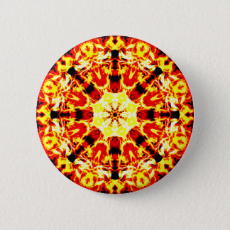 Chapa Redonda De 5 Cm Mandala del hilandero del fuego