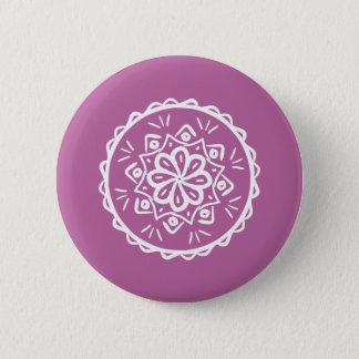 Chapa Redonda De 5 Cm Mandala del trébol